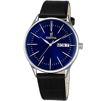 "Mens Watch Festina F6837/3, קוורץ, 43 מ""מ, 3ATM"