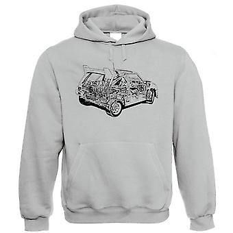 Metro 6R4 84 Diagram, Rally Car Hoodie, Gift for Dad Him Birthday