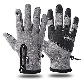 Cold-proof Ski Gloves, Waterproof, Winter, Cycling, Fluff Warm Glove