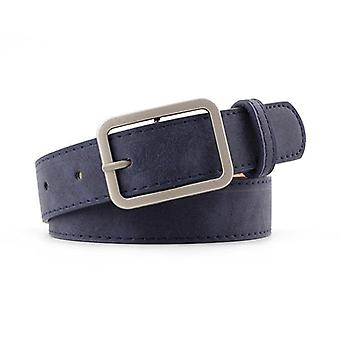 Leather Waist Strap Belt, High Quality Women Square Metal Buckle Belts