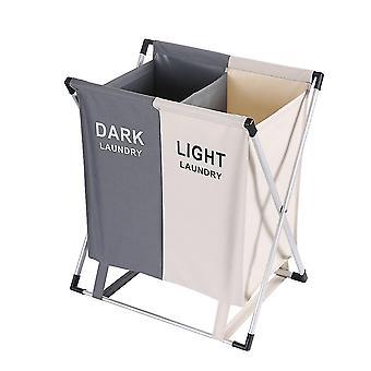 Smistatore lavanderia - 60 l - cesto lavanderia 2 scomparti