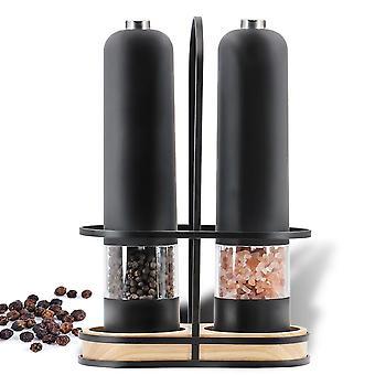 Automatische Salz Pfeffer elektrische Kunststoff Keramik Burr Mühle Schleifmaschine Set