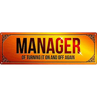 Grindstore Manager Of Turning It On & Off Again Plaque