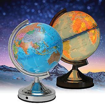 opplyst lampe roterende verden jorden jorden jorden hav skrivebord globe LED nattlys