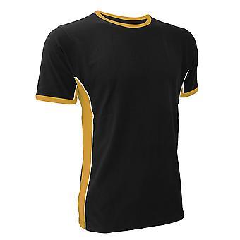 Finden & Hales Mens Panel Sports T-Shirt