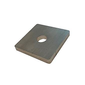 Piastra foro singolo / lavatrice T316 In acciaio inossidabile 50x50x6 Mm - foro 14mm
