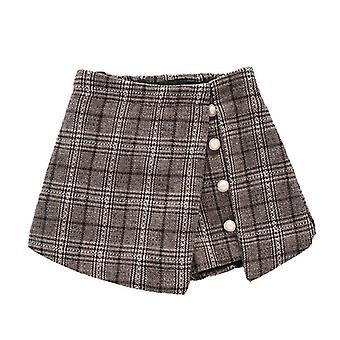Lány kockás rövidnadrág szoknyák, tizenéves gyerekek ruházat
