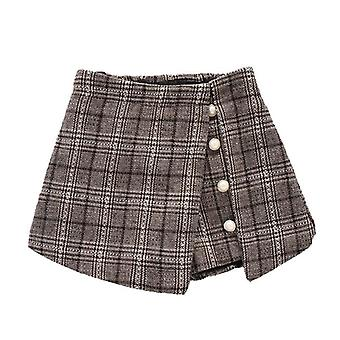 Girl Plaid Shorts Skirts, Teenage Kids Clothing