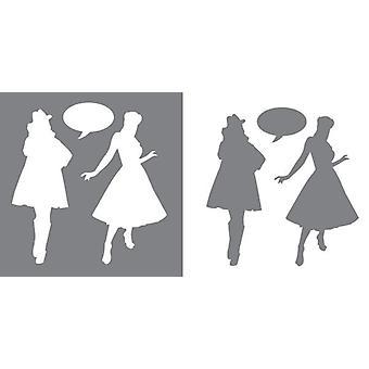 Decoart Stencil - Vogue (2 paket: innehåller 2 ark)