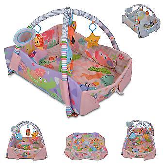 Moni Playcenter 2 in 1 Oasis Crab Deken Kussen Spelen Bow Toys Ball Bath