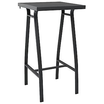Garden Bar Table Black 60x60x110 Cm Tempered Glass