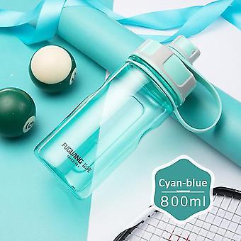 Botella de agua con anillo de transporte a prueba de fugas bebida spout sport botella camping fitness al aire libre 800ml