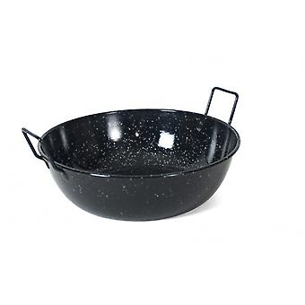 wok pan Honda 22 cm beeswax stainless steel black