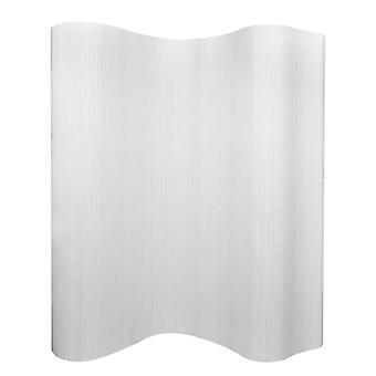 vidaXL غرفة مقسم الخيزران الأبيض 250×165 سم