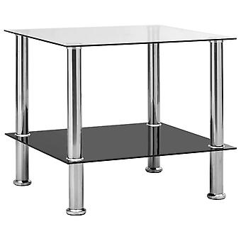 vidaXL Table Transparent 45x50x45 cm Tempered Glass