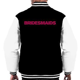 Bridesmaids Rosa Logotyp Män & Varsity Jacka