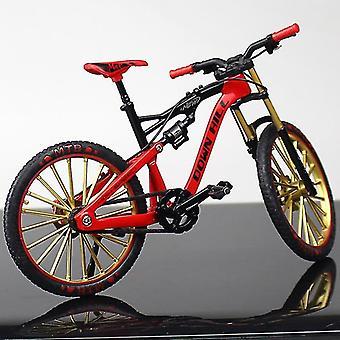 Mini Alloy Bicycle, Model Metal Racing Finger Mountain Bike, Pocket Portable