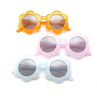 Cute Kids Toddler Baby Round Flower Sunglasses Protection Colorful