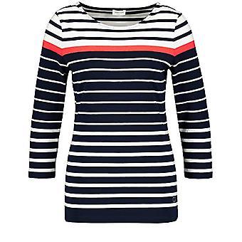Gerry Weber 97532-35046 T-Shirt, Multicolor (Navy/White/Red Orange 8117), (Herstellergro e: 34) Donna