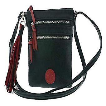 Rieker Handtasche, Women's Evening Bag, Black (Schwarz/Red), 190x15x170 centimeters (B x H x T)