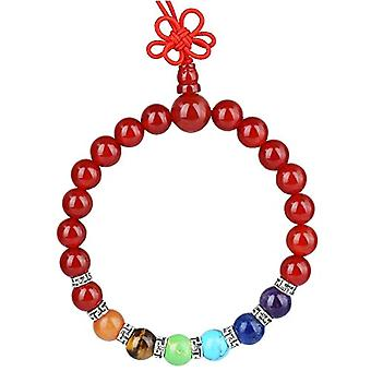 KYEYGWO 21 Mala bracelets with Chakra beads for men and women, unisex, with Reiki crystal stones and League, color: Ref corniola. 0715444069208