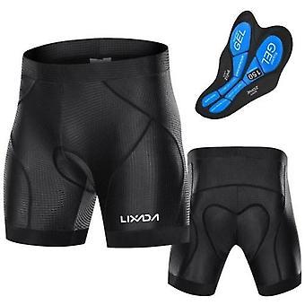 Mannen fiets gewatteerde shorts met anti-slip been grips fietsen 3D gewatteerde ondergoed fiets padding rijden shorts fietsen ondergoed shorts