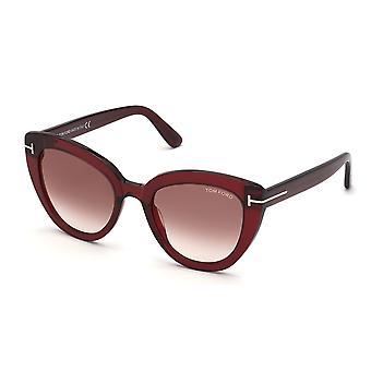 Tom Ford Izzi TF845 66G Shiny Red/Brown Mirror Sunglasses