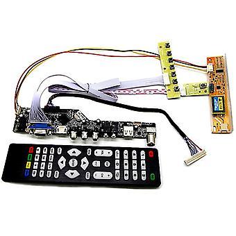TV + hdmi + vga + av + USB + الصوت تلفزيون LCD لوحة سائق
