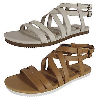 Teva Womens Avalina Crossover Läder Flat Sandal Skor