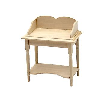 Dolls House Bare Wood Wash Stand Unfinished Victorian Bedroom Bathroom Meubles