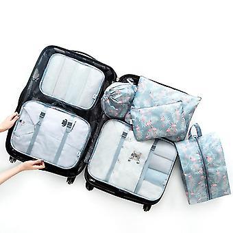 7 Pièce ensemble de cubes et sachets d'organisateur de voyage d'emballage de bagages