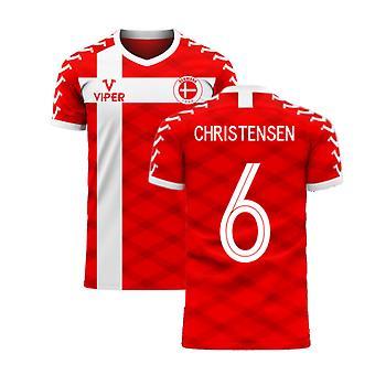 Denmark 2020-2021 Home Concept Football Kit (Viper) (CHRISTENSEN 6)