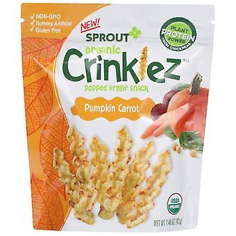 Sprout Crinklez Pumpkin Carrot, Case of 8 X 1.48 Oz