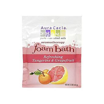 Aura Cacia Aromatherapy Foam Bath, Tangerine/Grapefruit 2.5 oz