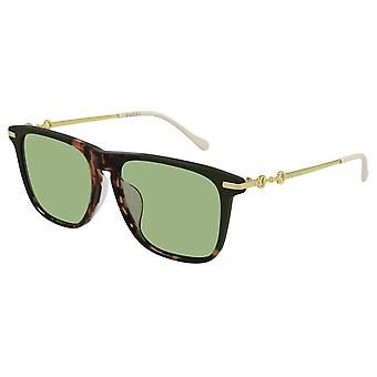 Gucci Havana Rektangulære Mens Solbriller