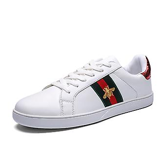 Bee couple shoes low-top sneakers 1E901 WhiteRed