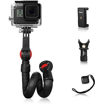 Wokex Selfie Stick Monopod,  Waterproof Flexible Hand Grip with Remote Control for Travel Live