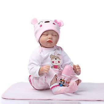 55Cm szilikon újjászületett baba baba játékok élethű alvó újszülött lányok baba play house lányok születésnapi ajándékok újjászületett baba