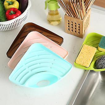Trigonometry Shelf Kitchen Sink Dish Drain Rack Bathroom Soap Sponge Holder