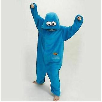 Adult Blue Sesame Street Cookie Elmo Costume(M)
