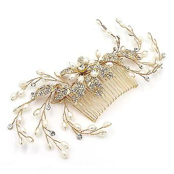 Bridal Leaf Branch Hair Pente Wedding Acessórios Cocar