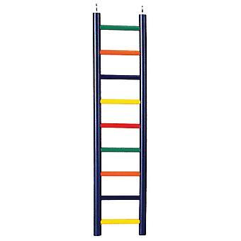 9-Peldaños Multi-Color Madera Bird Ladder