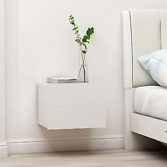 vidaXL tables de chevet 2 pcs. blanc 40×30×30 cm panneau de particules