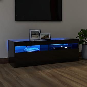 vidaXL TV-kaappi LED-valoilla kiiltävä musta 120x35x40 cm