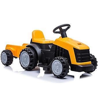 Tractor elektrisch voertuig met aanhanger – Geel