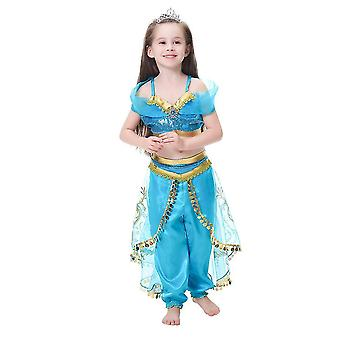 Arabian Princess Costume For Girls Dress Up Birthday Halloween Party(140CM)