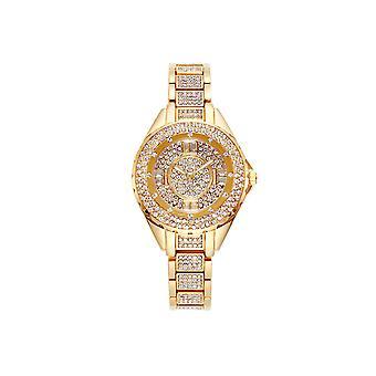 52014# Retro Steel Belt Shiny Starry Female Watch Fashion Trend Waterproof Quartz Watch