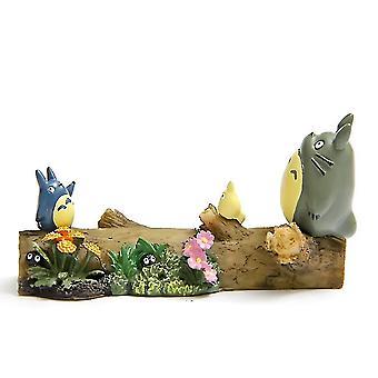 هاياو ميازاكي Totoro الربيع الخشب بارك مصغرة المناظر الطبيعية الشكل دمية