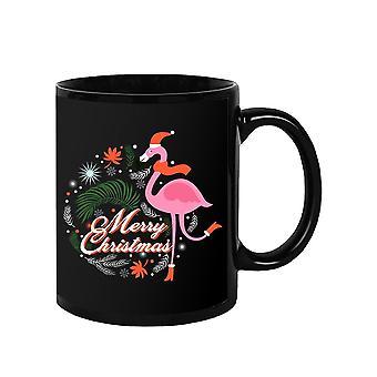 Jul med Flamingo Mugg -SPIdeals Designs