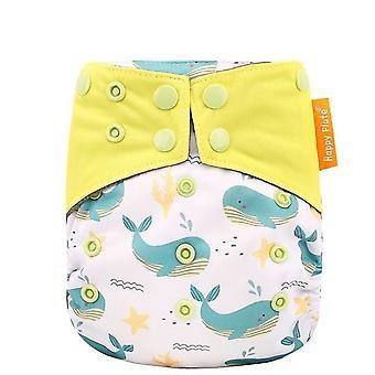 Happyflute Charcoal Bamboo Heavy Wetter Night Baby Cloth Diaper Nappy